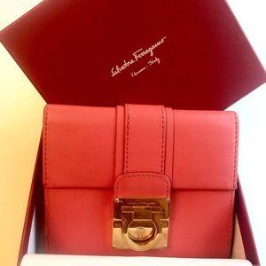 Ferragamo Morning Rose Calfskin Wallet